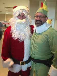 Santa and Larry the Elf