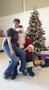 Santa and Pastor Lynch